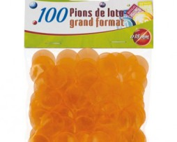 50-sachets-de-100-pions-de-marquage-18mm-Orange
