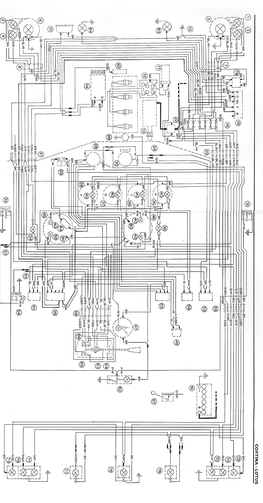 Escort Mk1 Fuse Box Diagram Auto Electrical Wiring Kpx Dirt Bike Lotus Cortina Diagrams