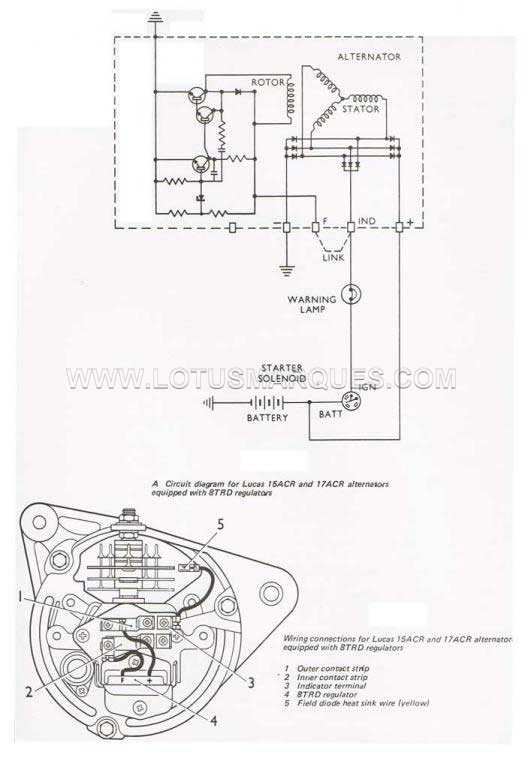 wiring diagram for the alternator