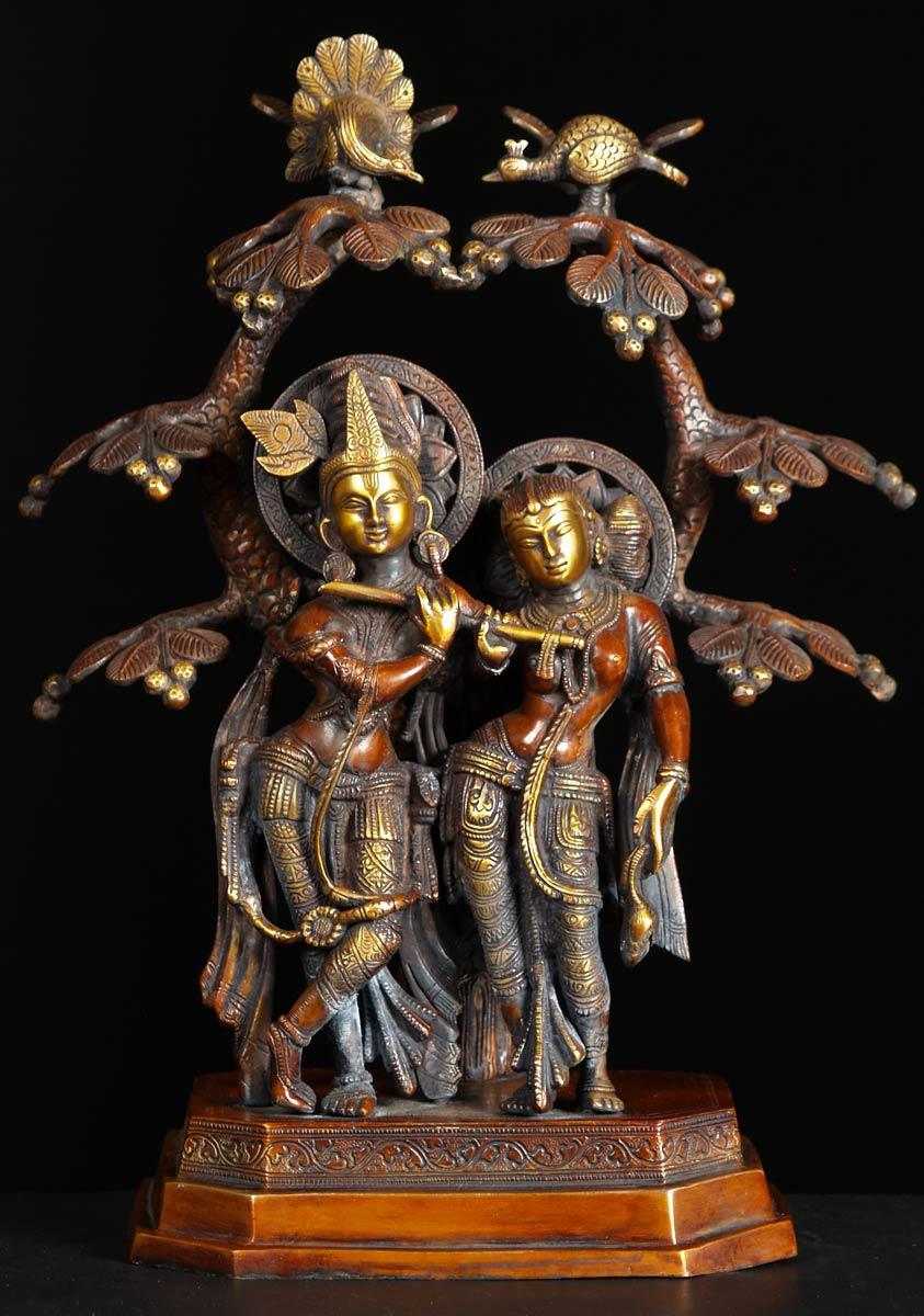 Free Hd Flower Wallpaper Sold Brass Radha Krishna Statue 17 Quot 72bs15b Hindu Gods