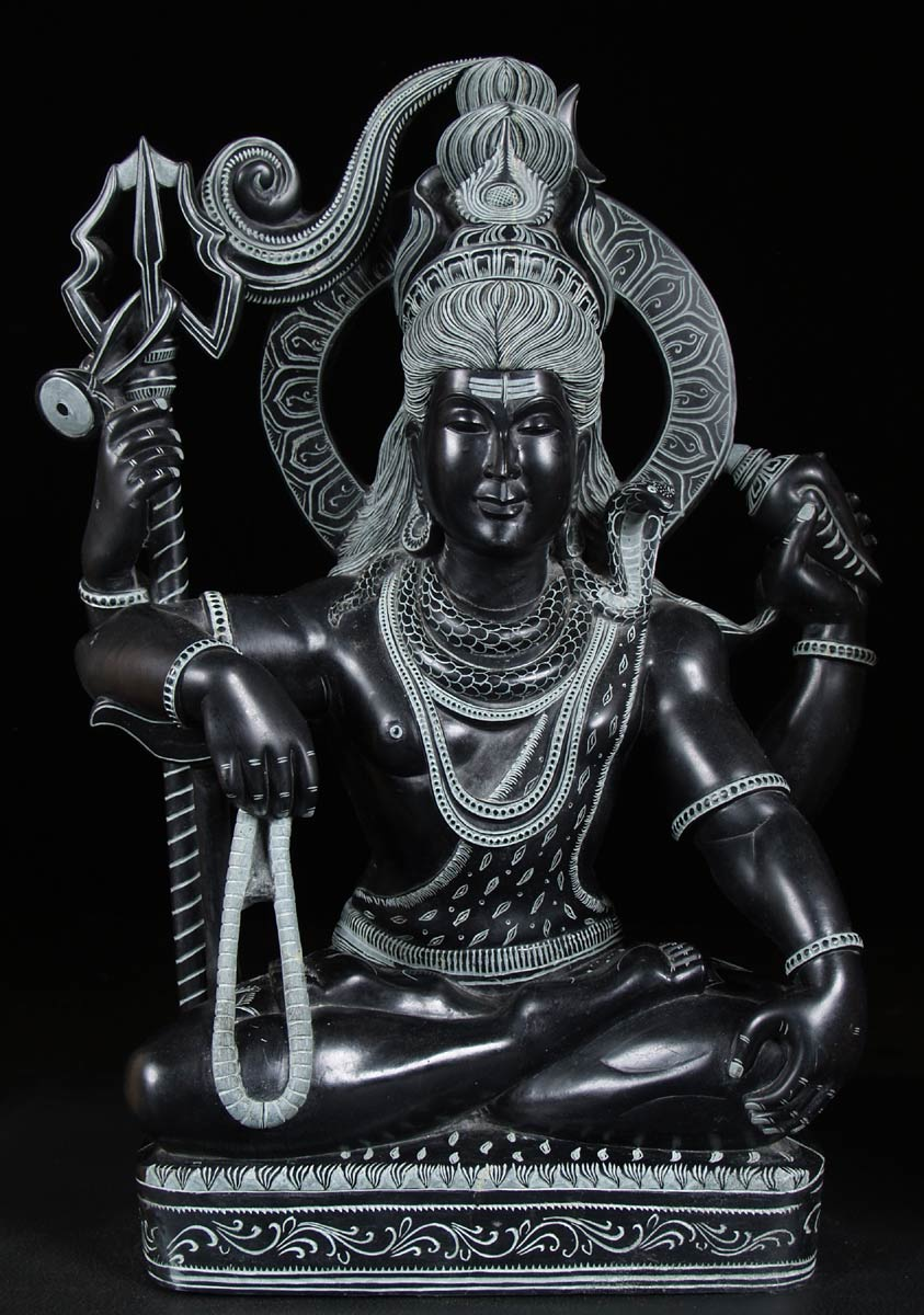Lord Shiva Black Hd Wallpapers Sold Black Marble Seated Shiva Statue 22 Quot 57bm2 Hindu