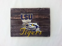 LSU Tiger Eye hand painted Pallet Art or Pallet Sign ...