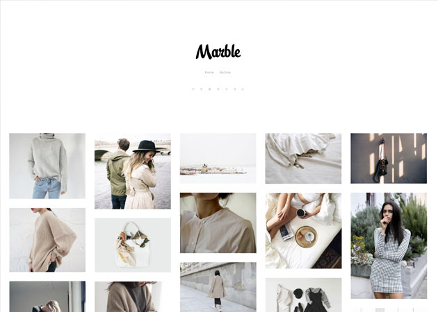 Marble free tumblr theme