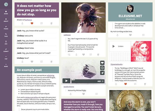 Fleux free tumblr theme