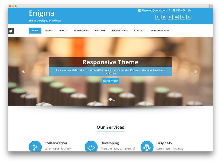 Enigma Free WordPress business themes