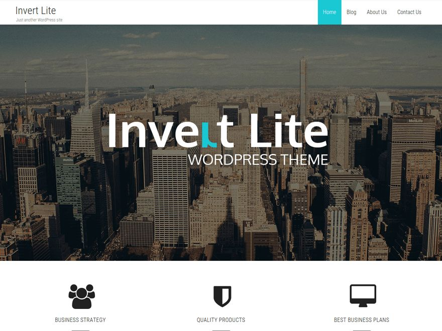 Invert Lite Free WordPress Business Services Theme