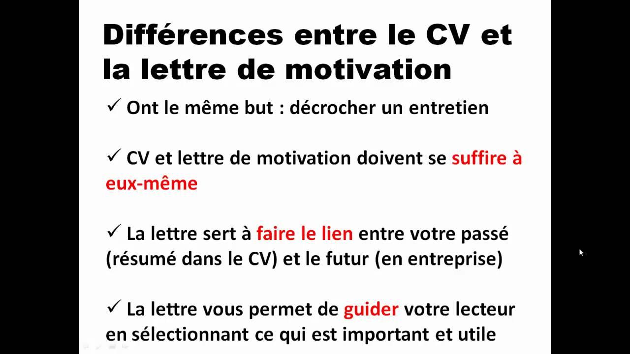 regle lettre de motivation