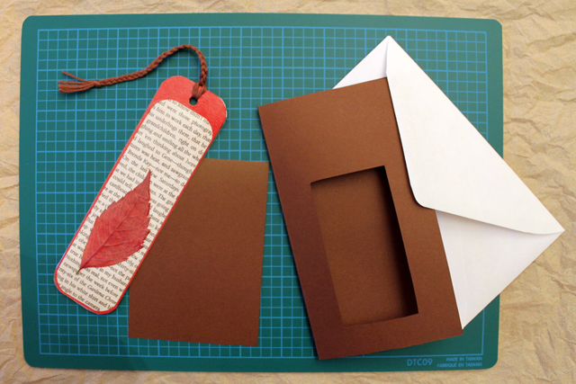 How to Make A Greeting Card and a Bookmark Combined Loulou Downtown