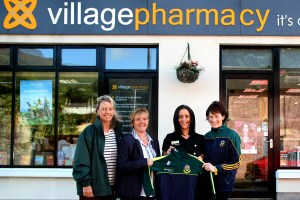 Village Pharmacy, Carlingford sponsores of Cooley Kickhams Juveniles, Nursery to U12's. In the picture is Fidelma Brady(Mentor), Shiobhan Taylor, Marie McGrath(Village Pharmacy) and Joan McCarragher(Mentor)