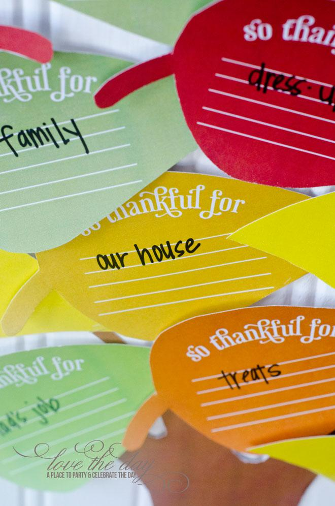 FREE Thanksgiving Tree Printable by Love The Day