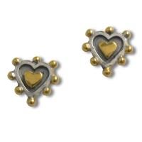 Nobbly heart stud earring