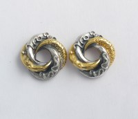 Mini loveknot stud earrings
