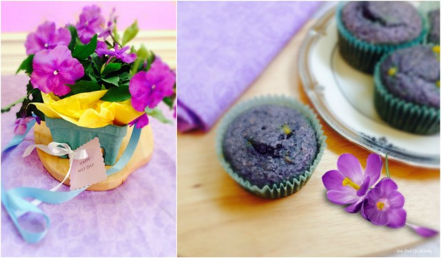 May Day Cake and Flowers