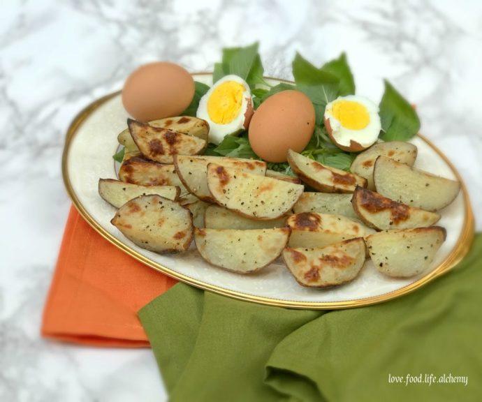 secret garden roasted potatoes and eggs