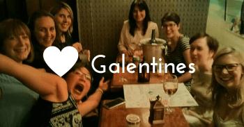 Celebrating galentine's in Edinburgh with the girls!