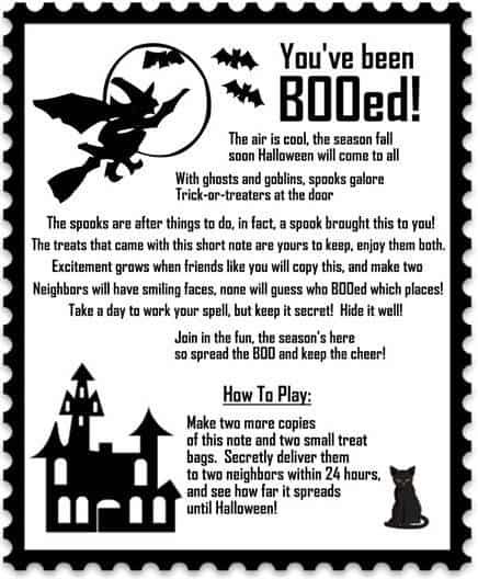 You\u0027ve Been Booed! Treats for Boo-ing Your Friends And Links To Free