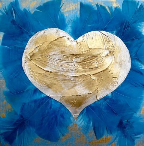 LoveHug Feathers Heart Art