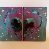 Diptych heart art