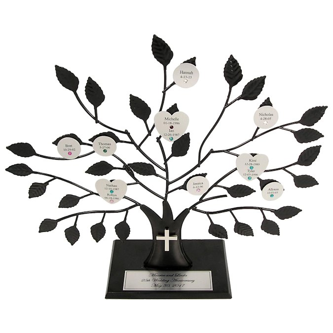 Christian Engraved Family Tree Stand Love Is A Rose