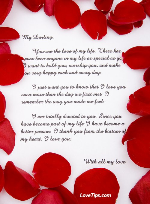 Beautiful Love Letters Sample Love Letters for Free - love letters