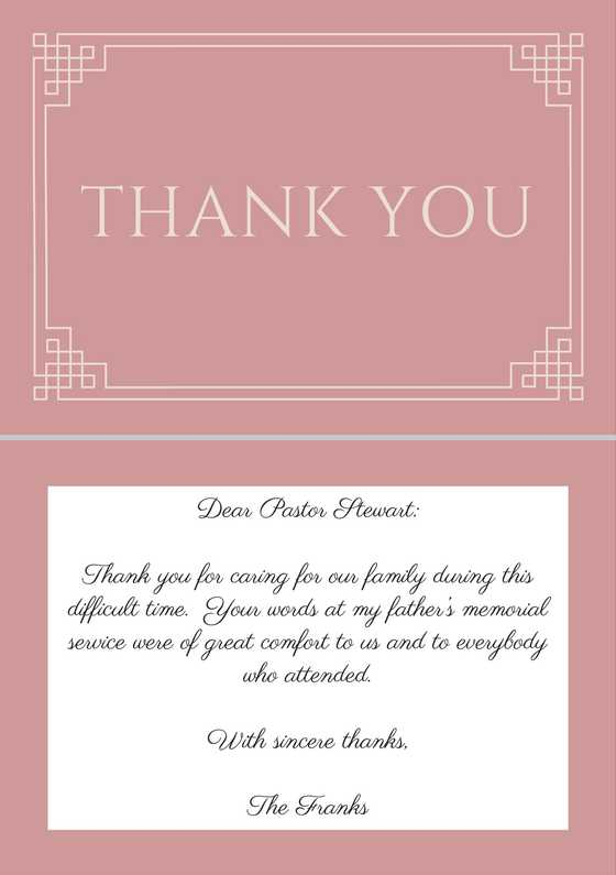 33+ Best Funeral Thank You Cards Love Lives On - funeral thank you note