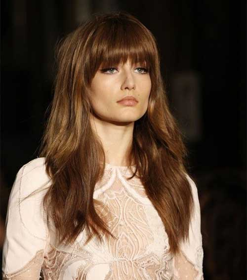 Long Hairstyles For Round Faces With Bangs Daily Health