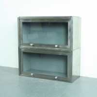 Small vintage industrial metal and glass cabinet - Lovely ...