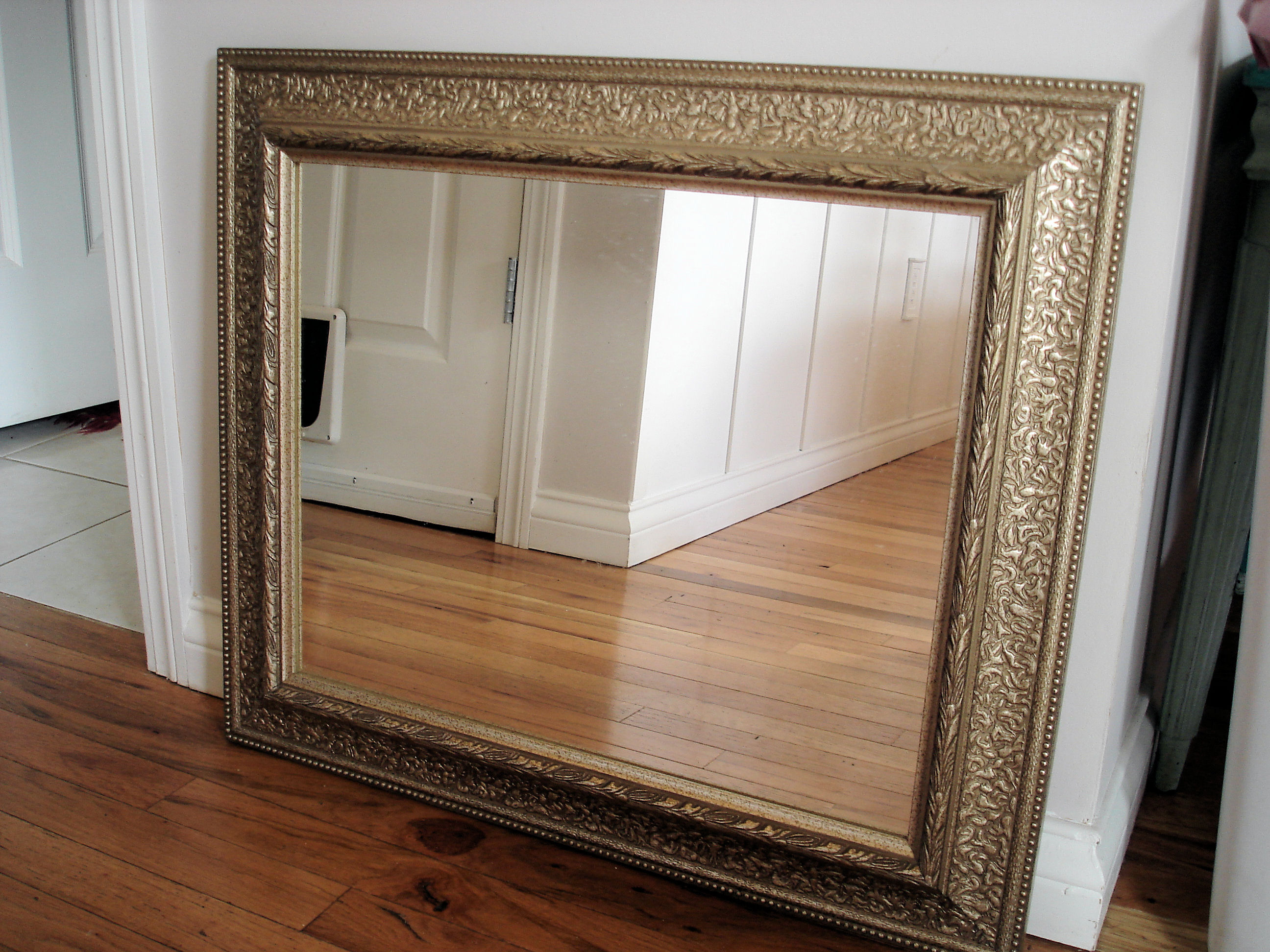 cheap write it on the wall with how to frame a large mirror with wood frame
