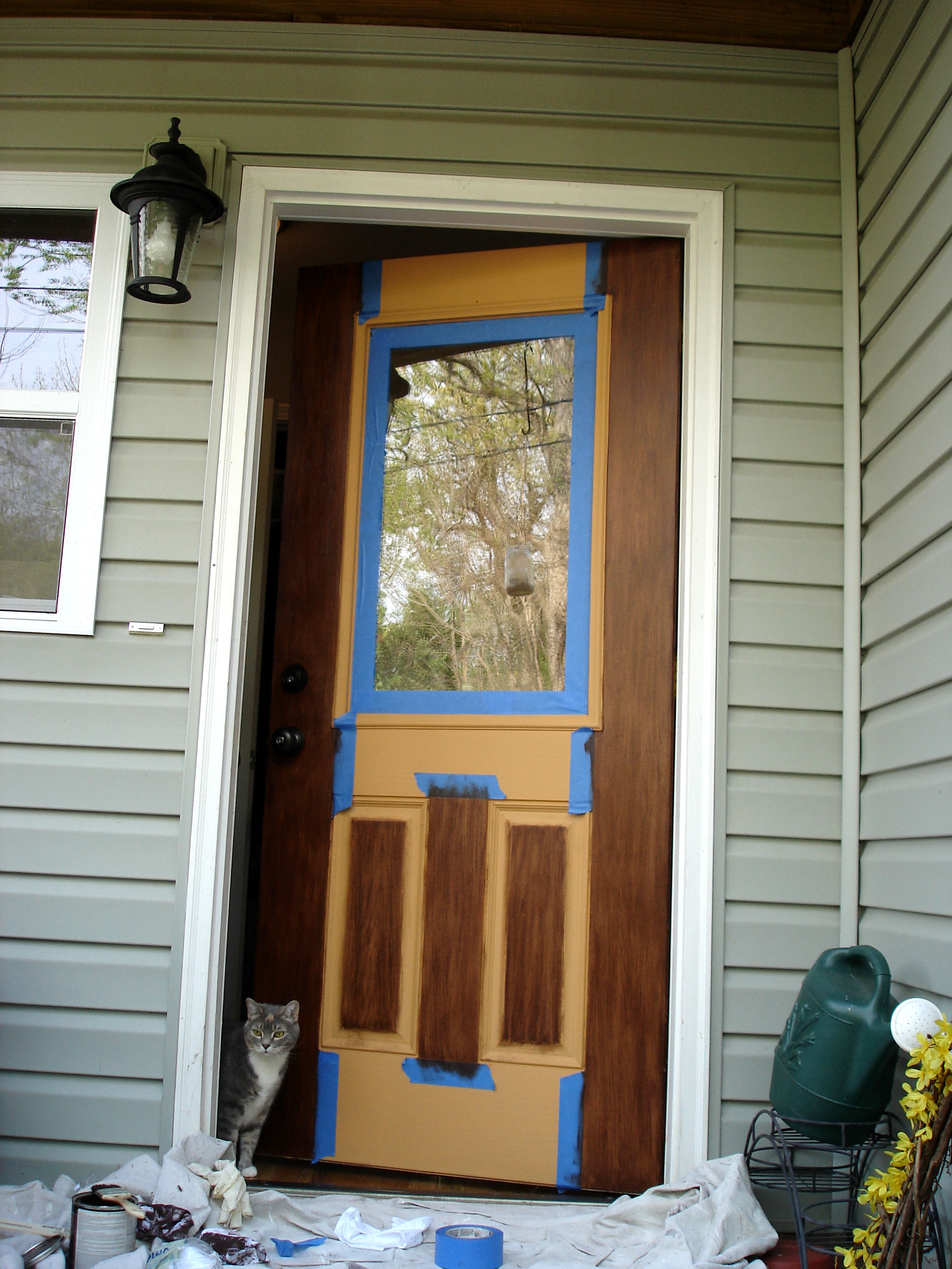 2592 #653F22 Moved On To Sides Of The Door The Outer Edges Of The Raised Panels  image Stainable Fiberglass Entry Doors 40231944