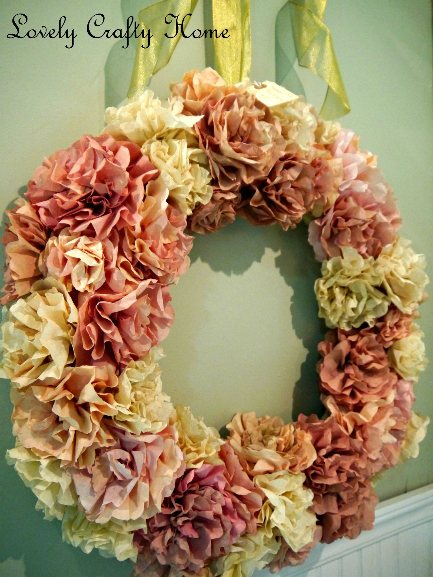 The Coffee Filter Wreath