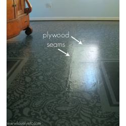 Small Crop Of Painted Plywood Floors
