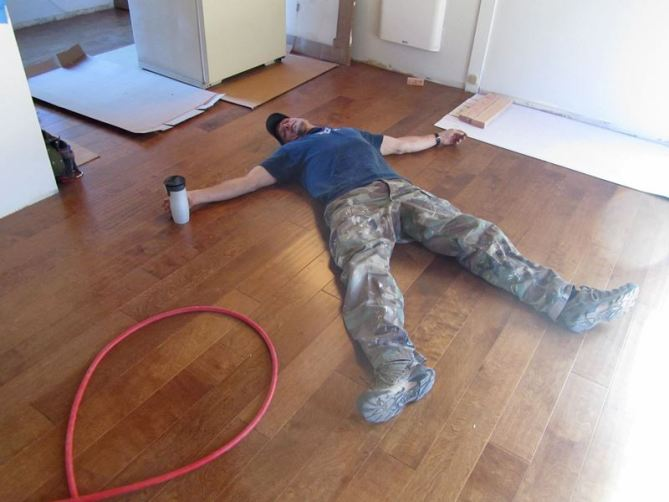 How To Install An Engineered Hardwood Floor Lovely Imperfection