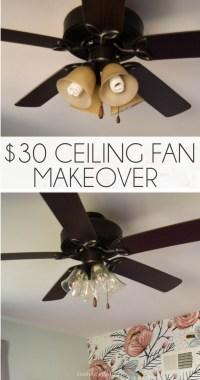 Diy Ceiling Fan Makeover | www.Gradschoolfairs.com