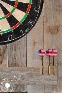 Wooden Dartboard Display