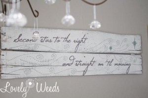 Peter Pan Inspired Wooden Sign