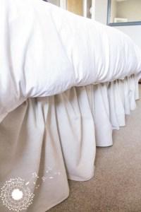 Ruffled Drop Cloth Bedskirt