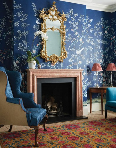 De Gournay Chinoiserie Wallpaper + Met Gala Limited Edition Scarf   ...love Maegan