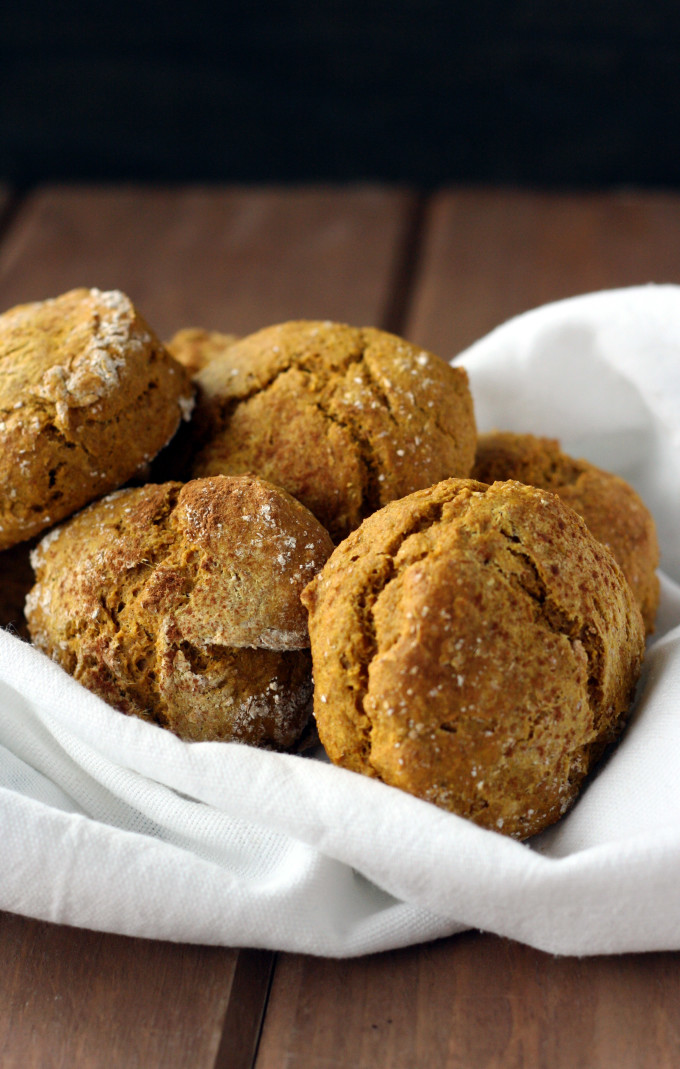 Kabocha Biscuits that are so moist and perfectly crumbly