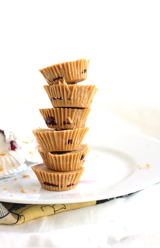 PB&J Cups - super simple, vegan, and sugar free   love me, feed me