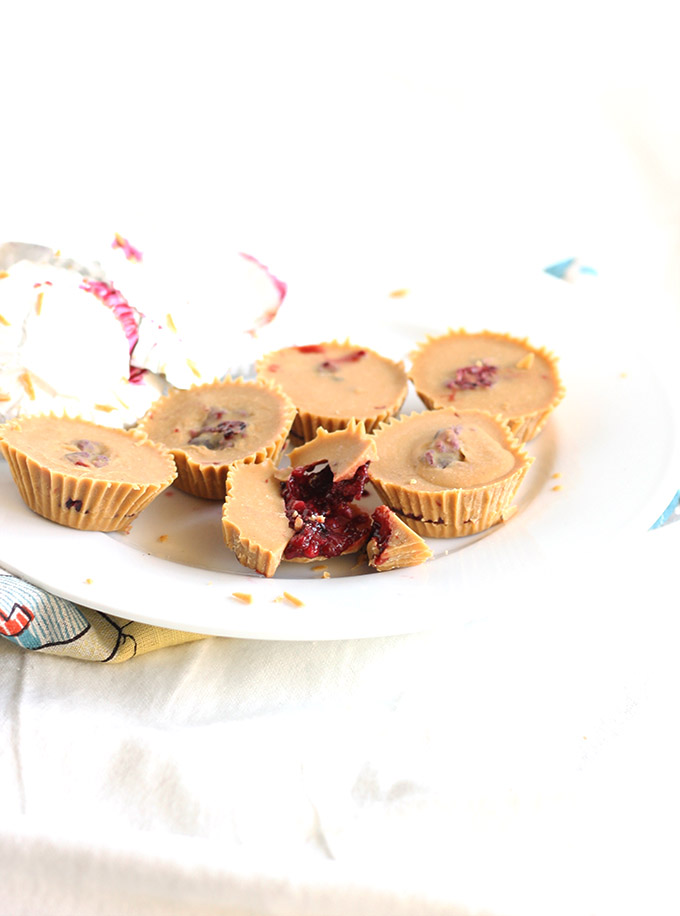 Vegan PBJ Cups