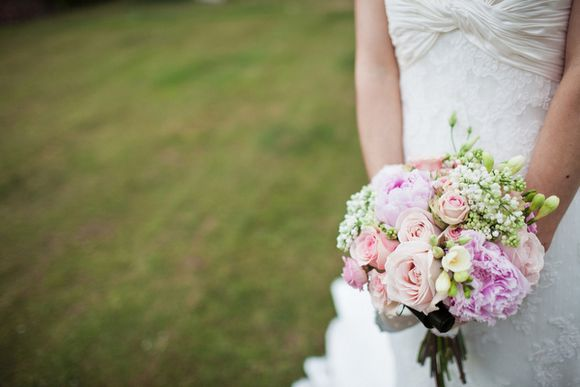 A Traditional English Wedding of Pink and Lace…