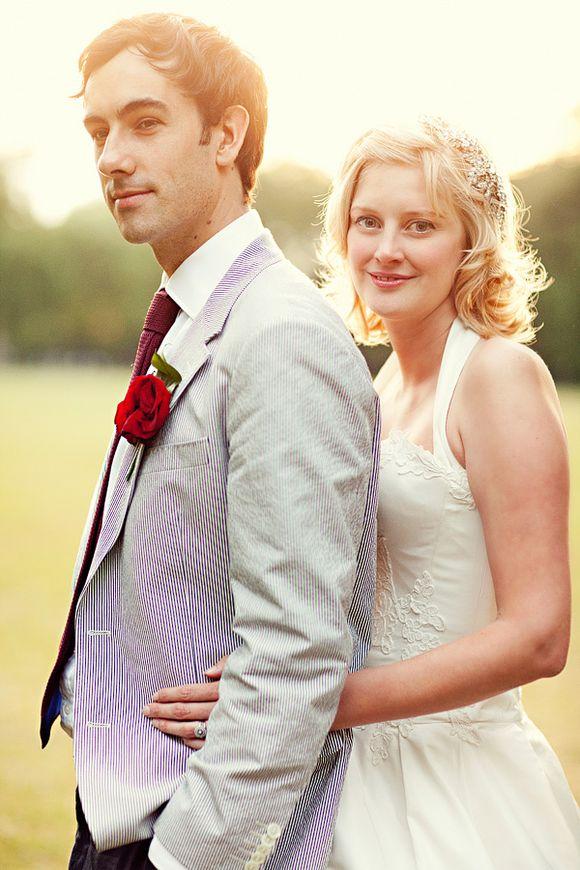 A 50's Halterneck Wedding Dress for a Very British London Wedding…