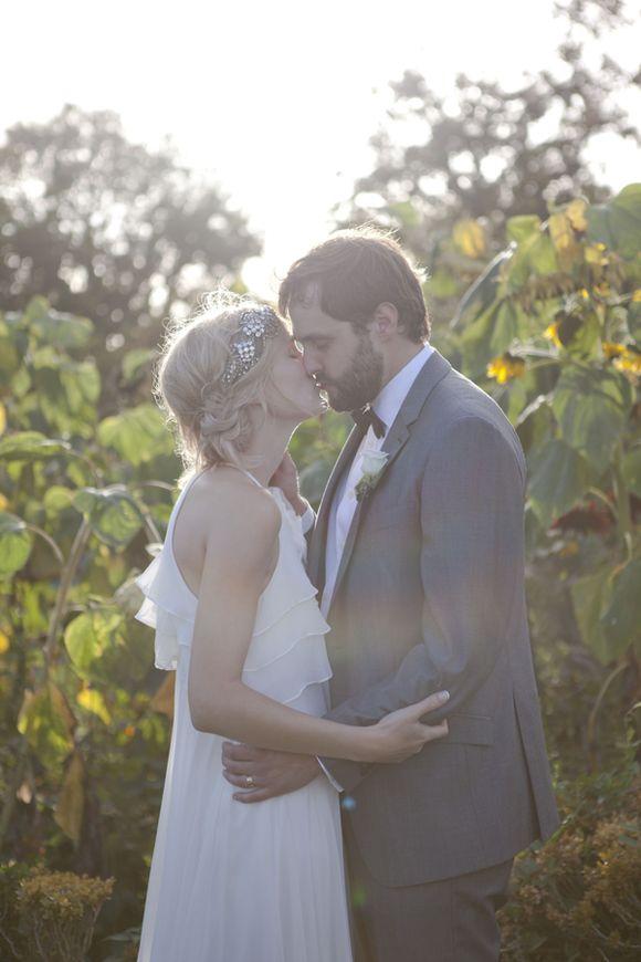 An Ugo Zaldi Wedding Dress For A DIY Orchard Farm Wedding….