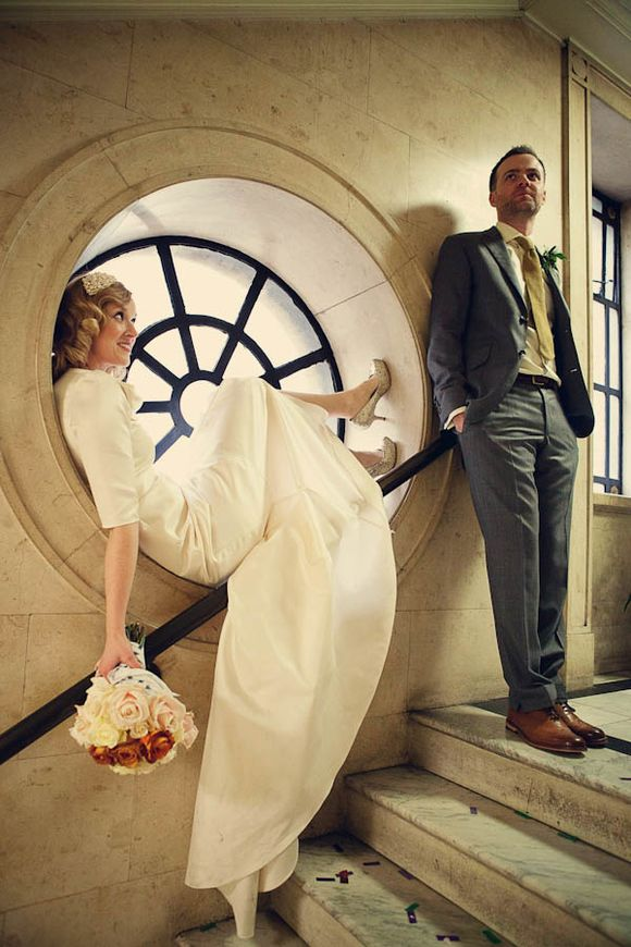 A Fun and Elegant 1930s, Art Deco Inspired London Wedding…
