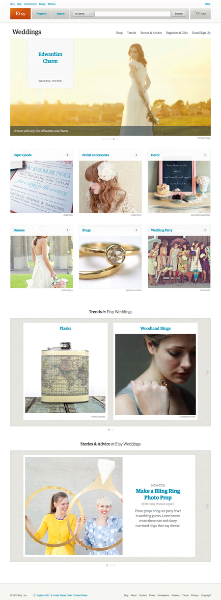 A Marriage Made on Etsy ~ 'Etsy Weddings' is Launched…