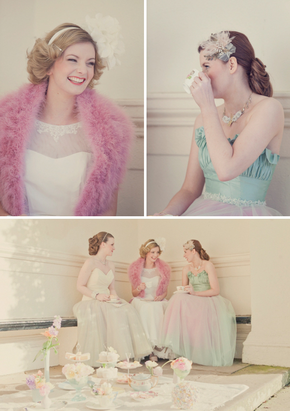 Shades of Pastel Pretty for a Downton Abbey Inspired Photoshoot…