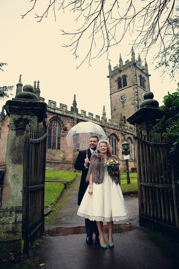 A Dolly Couture Wedding Dress & Vivienne Westwood Green Wedding Shoes {includes film}…