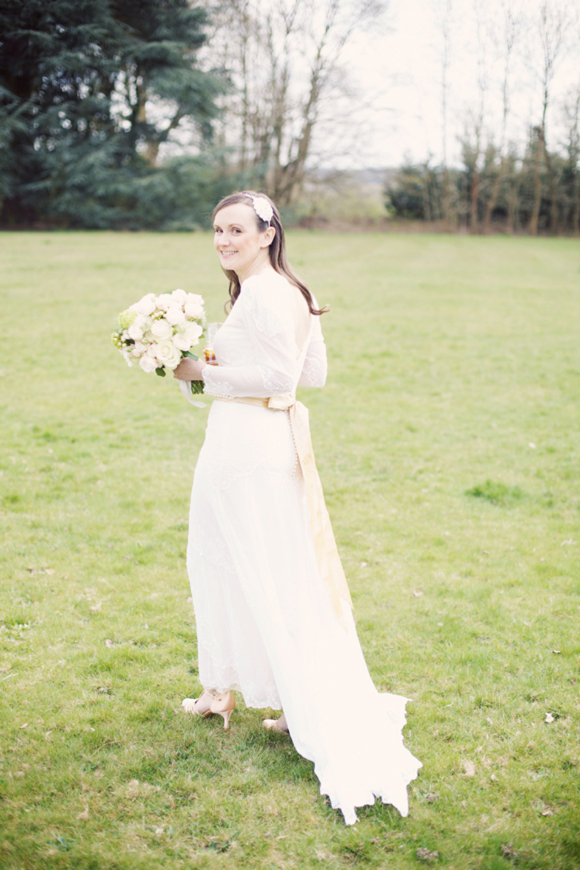 An £80 Dress and Vintage Style Lace for a Relaxed, Elegant and Peach Perfect Wedding…