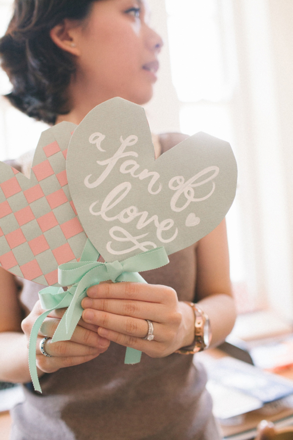 How To Create Woven Heart Wedding Fans, by Erin Hung of Berinmade…