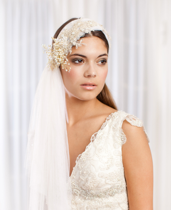 Jannie Baltzer ~ New 2013 Collection of Couture Headpieces and Wedding Veils…